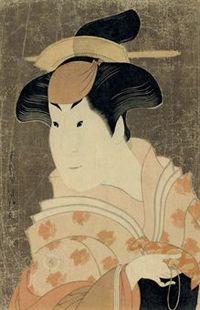 Toshusai_sharaku_actor_iwai_hanshir